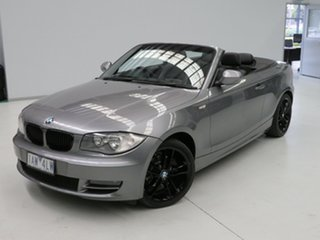 2010 BMW 1 Series E88 MY10 118d Steptronic Grey 6 Speed Sports Automatic Convertible.