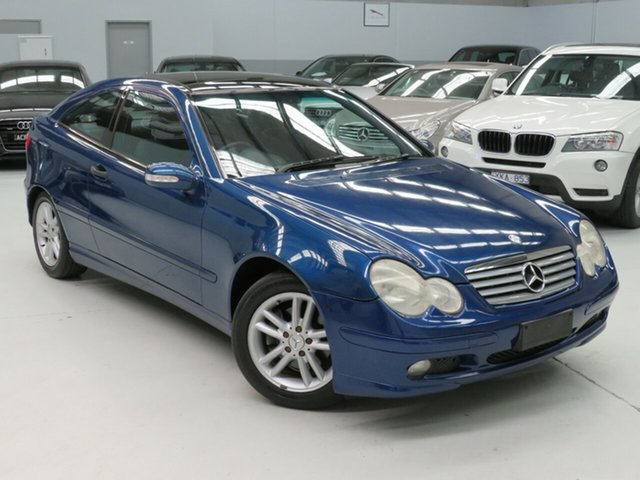 Used Mercedes-Benz C-Class CL203 MY2003 C230 Kompressor Sports, 2003 Mercedes-Benz C-Class CL203 MY2003 C230 Kompressor Sports Blue 5 Speed Automatic Coupe