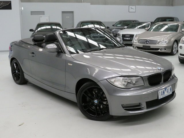 Used BMW 1 Series E88 MY10 118d Steptronic, 2010 BMW 1 Series E88 MY10 118d Steptronic Grey 6 Speed Sports Automatic Convertible