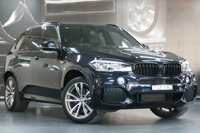 Used BMW X5 F15 xDrive40d, 2014 BMW X5 F15 xDrive40d Carbon Black 8 Speed Sports Automatic Wagon