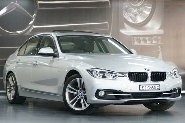 Used BMW 3 Series F30 LCI 320i Sport Line, 2015 BMW 3 Series F30 LCI 320i Sport Line Silver 8 Speed Sports Automatic Sedan