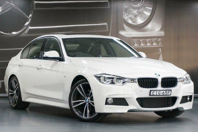 Used BMW 3 Series F30 LCI 330i M Sport, 2016 BMW 3 Series F30 LCI 330i M Sport White 8 Speed Sports Automatic Sedan
