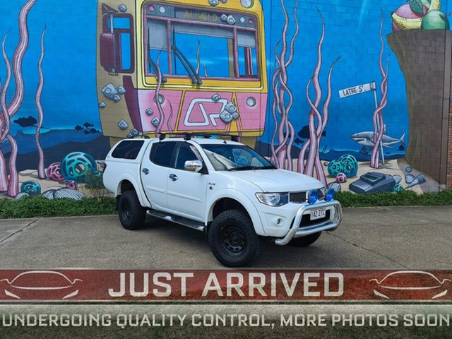 Used Mitsubishi Triton MN MY14 GLX-R Double Cab, 2013 Mitsubishi Triton MN MY14 GLX-R Double Cab White 5 Speed Sports Automatic Utility