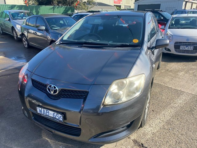 Used Toyota Corolla ZRE152R Ascent Hoppers Crossing, 2007 Toyota Corolla ZRE152R Ascent Grey 4 Speed Automatic Hatchback