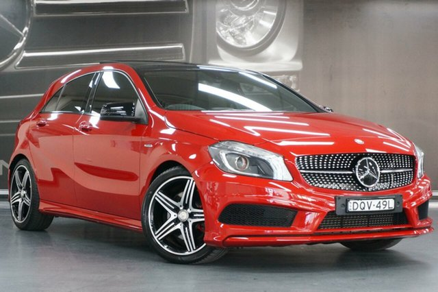 Used Mercedes-Benz A-Class W176 805+055MY A250 D-CT Sport, 2015 Mercedes-Benz A-Class W176 805+055MY A250 D-CT Sport Red 7 Speed Sports Automatic Dual Clutch