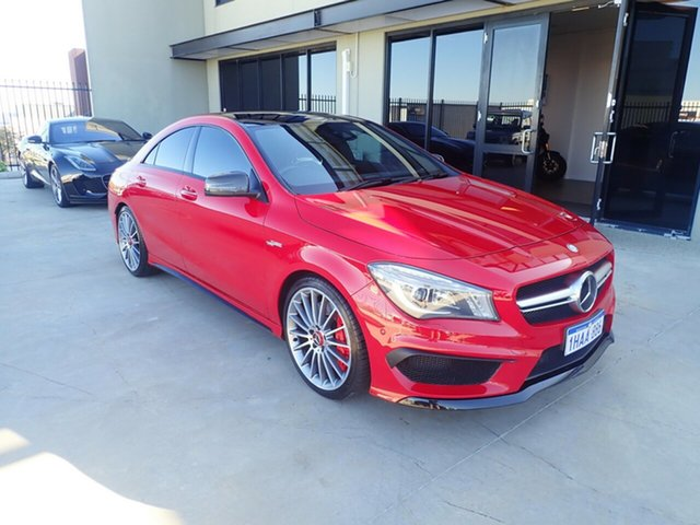 Used Mercedes-Benz CLA-Class C117 806MY CLA45 AMG SPEEDSHIFT DCT 4MATIC, 2015 Mercedes-Benz CLA-Class C117 806MY CLA45 AMG SPEEDSHIFT DCT 4MATIC Bright Red 7 Speed