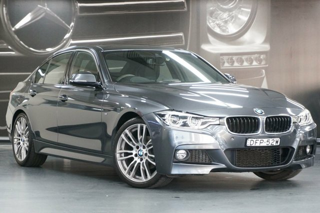 Used BMW 3 Series F30 LCI 320i M Sport, 2015 BMW 3 Series F30 LCI 320i M Sport Grey 8 Speed Sports Automatic Sedan