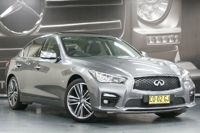 Used Infiniti Q50 V37 S Premium, 2017 Infiniti Q50 V37 S Premium Grey 7 Speed Sports Automatic Sedan