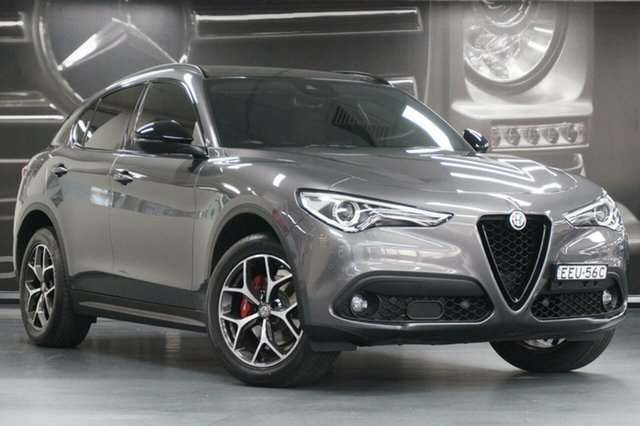 Used Alfa Romeo Stelvio  First Edition AWD, 2017 Alfa Romeo Stelvio First Edition AWD Grey 8 Speed Sports Automatic Wagon