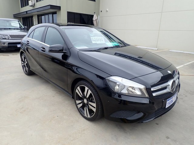 Used Mercedes-Benz A200 176 MY15 BE, 2014 Mercedes-Benz A200 176 MY15 BE Black Magic 7 Speed Automatic Hatchback