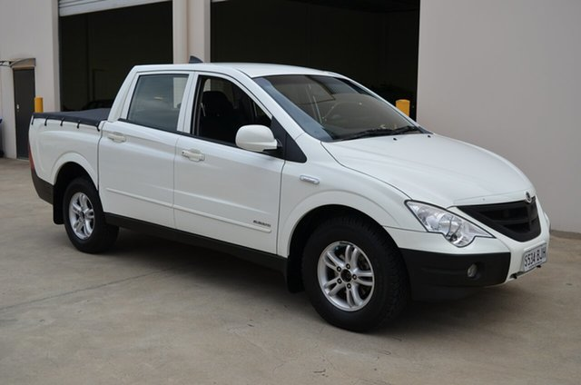 Used Ssangyong Actyon Sports Q100 MY08 , 2010 Ssangyong Actyon Sports Q100 MY08 White 5 Speed Manual Double Cab Utility