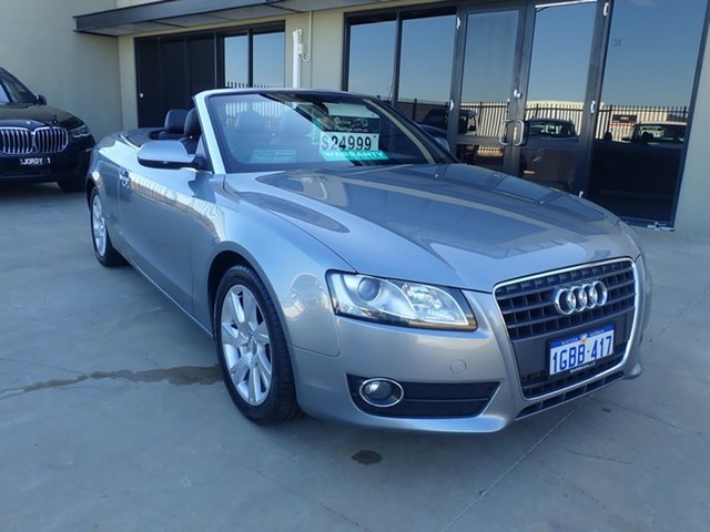 Used Audi A5 8T MY11 Multitronic, 2010 Audi A5 8T MY11 Multitronic Cosmic Grey 8 Speed Constant Variable Cabriolet