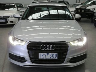 2012 Audi A6 4G S Tronic Quattro Silver 7 Speed Sports Automatic Dual Clutch Sedan