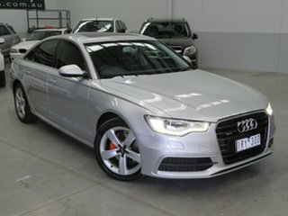 2012 Audi A6 4G S Tronic Quattro Silver 7 Speed Sports Automatic Dual Clutch Sedan.
