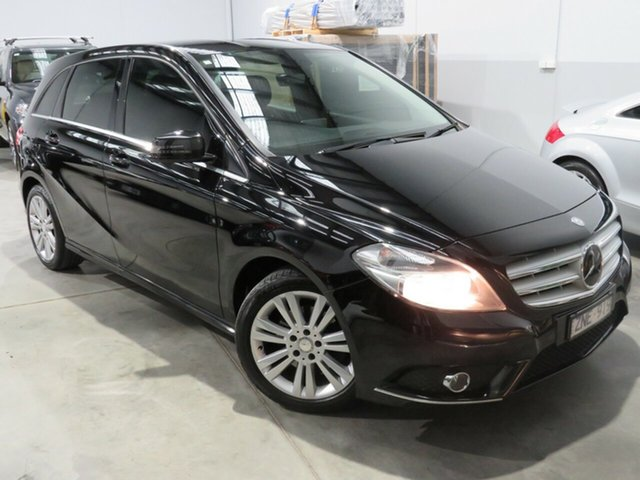 Used Mercedes-Benz B200 W246 BlueEFFICIENCY DCT, 2012 Mercedes-Benz B200 W246 BlueEFFICIENCY DCT Black 7 Speed Sports Automatic Dual Clutch Hatchback