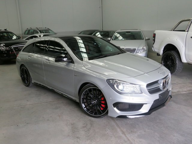 Used Mercedes-Benz CLA-Class X117 CLA45 AMG Shooting Brake SPEEDSHIFT DCT 4MATIC Seaford, 2015 Mercedes-Benz CLA-Class X117 CLA45 AMG Shooting Brake SPEEDSHIFT DCT 4MATIC Silver 7 Speed