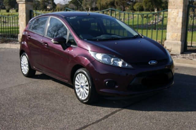 Used Ford Fiesta WT CL, 2011 Ford Fiesta WT CL Burgundy 6 Speed Automatic Hatchback