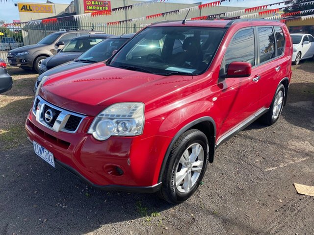 Used Nissan X-Trail T31 MY11 ST (FWD) Hoppers Crossing, 2011 Nissan X-Trail T31 MY11 ST (FWD) Red 6 Speed Manual Wagon