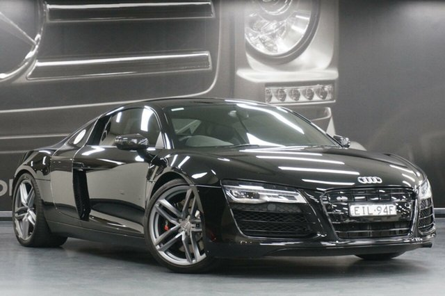 Used Audi R8 MY15 S Tronic Quattro, 2015 Audi R8 MY15 S Tronic Quattro Black 7 Speed Sports Automatic Dual Clutch Coupe
