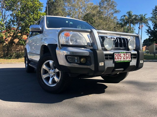 Used Toyota Landcruiser Prado KDJ120R 07 Upgrade GXL (4x4), 2008 Toyota Landcruiser Prado KDJ120R 07 Upgrade GXL (4x4) White 5 Speed Automatic Wagon