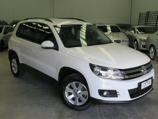 Used Volkswagen Tiguan 5N MY14 103TDI DSG 4MOTION Pacific Seaford, 2014 Volkswagen Tiguan 5N MY14 103TDI DSG 4MOTION Pacific White 7 Speed Sports Automatic Dual Clutch