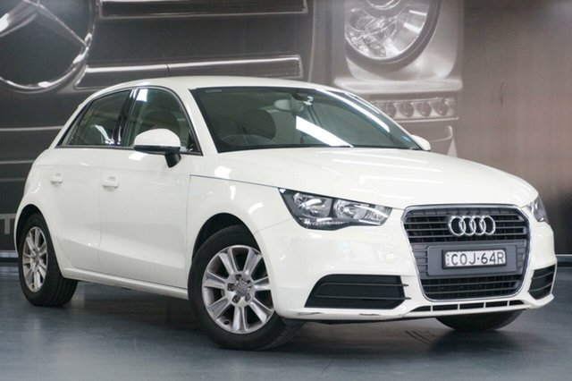Used Audi A1 8X MY14 Attraction Sportback S Tronic, 2013 Audi A1 8X MY14 Attraction Sportback S Tronic White 7 Speed Sports Automatic Dual Clutch
