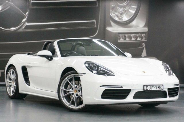 Used Porsche 718 982 MY17 Boxster PDK, 2017 Porsche 718 982 MY17 Boxster PDK White 7 Speed Sports Automatic Dual Clutch Convertible