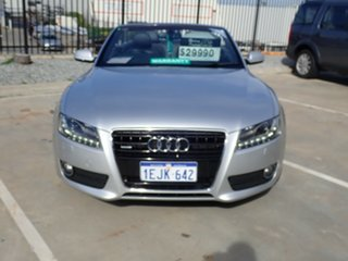 2009 Audi A5 8T MY10 S Tronic Quattro Grey Metallic 7 Speed Sports Automatic Dual Clutch Cabriolet.