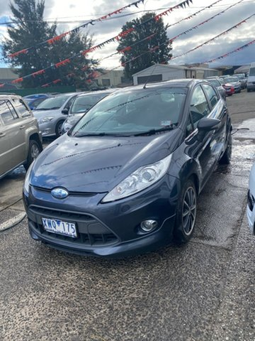 Used Ford Fiesta WS Zetec, 2010 Ford Fiesta WS Zetec Dark Blue 4 Speed Automatic Hatchback