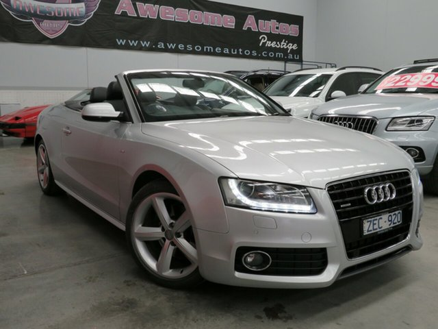 Used Audi A5 8T MY12 3.2 FSI Quattro, 2012 Audi A5 8T MY12 3.2 FSI Quattro Silver 7 Speed Auto Direct Shift Cabriolet