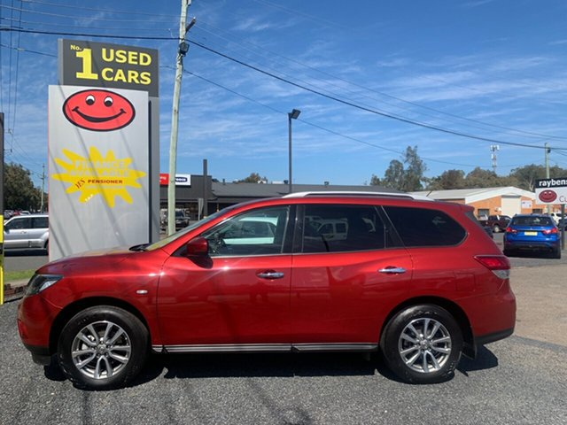 Used Nissan Pathfinder R52 , 2017 Nissan Pathfinder R52 ST 4WD 7 SEATER V6 Maroon 6 Speed Automatic Wagon