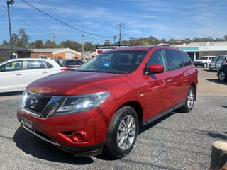 2017 Nissan Pathfinder R52 ST 4WD 7 SEATER V6 Maroon 6 Speed Automatic Wagon