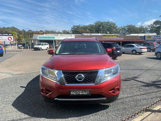2017 Nissan Pathfinder R52 ST 4WD 7 SEATER V6 Maroon 6 Speed Automatic Wagon.