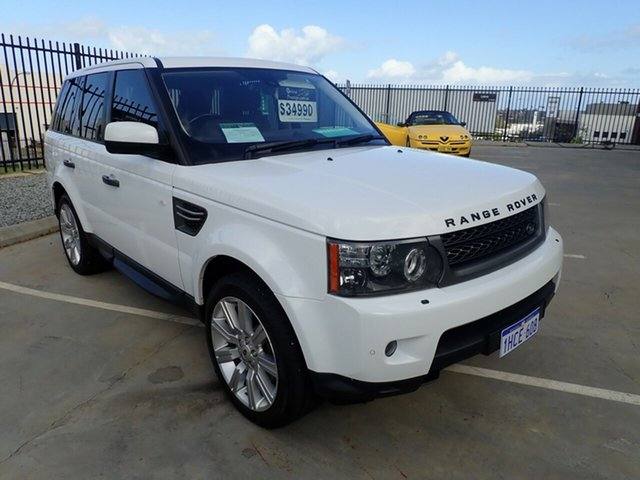 Used Land Rover Range Rover Sport L320 11MY TDV6 Luxury Wangara, 2011 Land Rover Range Rover Sport L320 11MY TDV6 Luxury Fuji White 6 Speed Sports Automatic Wagon