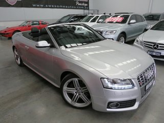 2009 Audi S5 8T MY10 S Tronic Quattro Silver 7 Speed Sports Automatic Dual Clutch Cabriolet.