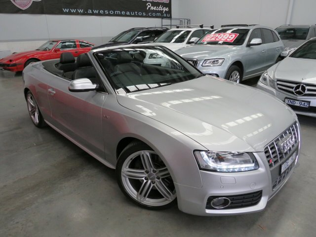 Used Audi S5 8T MY10 S Tronic Quattro Seaford, 2009 Audi S5 8T MY10 S Tronic Quattro Silver 7 Speed Sports Automatic Dual Clutch Cabriolet