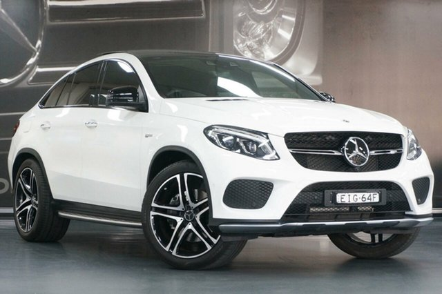 Used Mercedes-Benz GLE-Class C292 MY809 GLE43 AMG Coupe 9G-Tronic 4MATIC, 2018 Mercedes-Benz GLE-Class C292 MY809 GLE43 AMG Coupe 9G-Tronic 4MATIC White 9 Speed