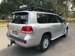 2010 Toyota Landcruiser VDJ200R 09 Upgr GXL (4x4) Silver 6 Speed Automatic Wagon.
