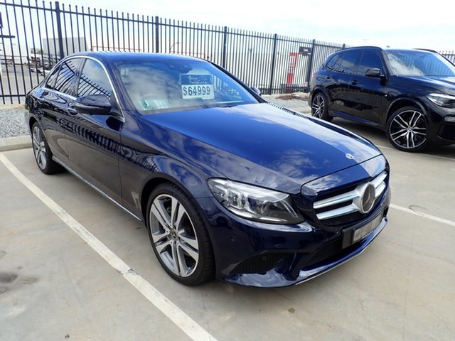 Used Mercedes-Benz C-Class W205 809MY C300 9G-Tronic Wangara, 2018 Mercedes-Benz C-Class W205 809MY C300 9G-Tronic Midnight Blue 9 Speed Sports Automatic Sedan