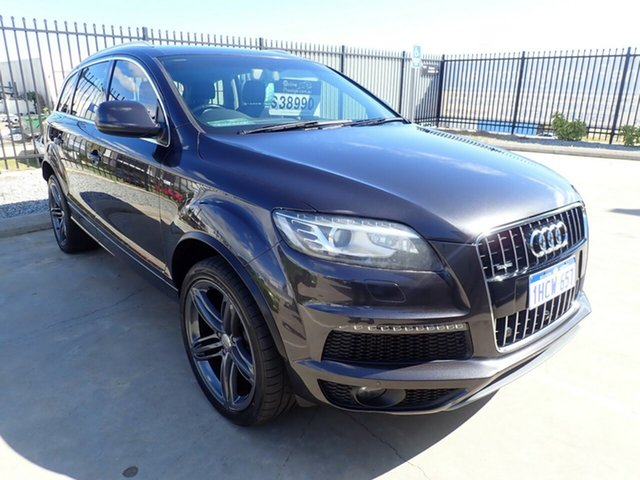 Used Audi Q7 MY13 TDI Tiptronic Quattro, 2012 Audi Q7 MY13 TDI Tiptronic Quattro Lava Grey 8 Speed Sports Automatic Wagon