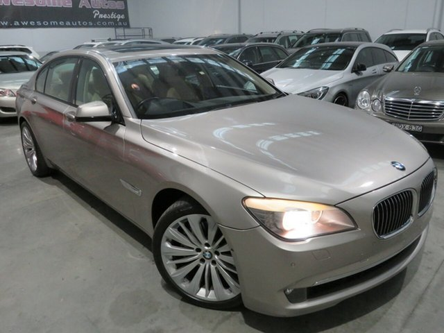 Used BMW 7 Series F02 740Li LWB Steptronic, 2009 BMW 7 Series F02 740Li LWB Steptronic Gold 6 Speed Sports Automatic Sedan