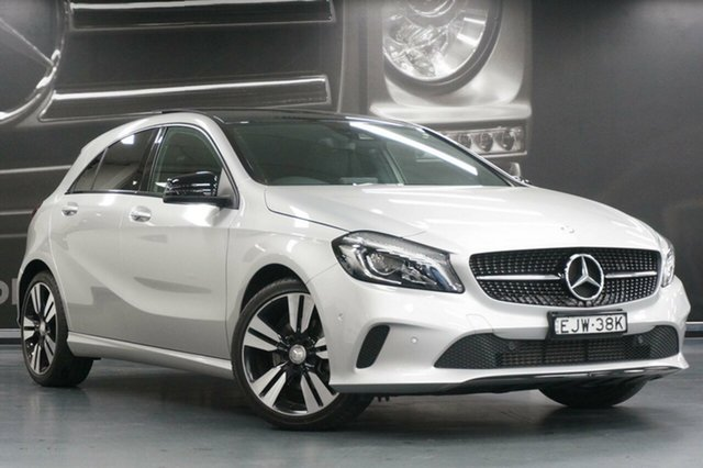 Used Mercedes-Benz A-Class W176 807MY A180 D-CT, 2016 Mercedes-Benz A-Class W176 807MY A180 D-CT Polar Silver 7 Speed Sports Automatic Dual Clutch