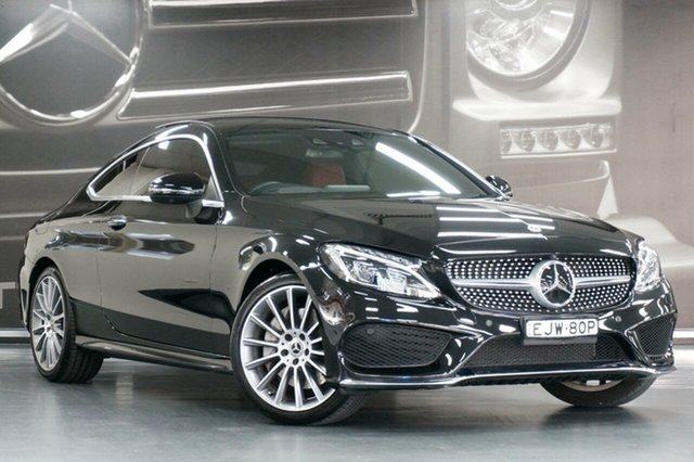 Used Mercedes-Benz C-Class C205 808MY C300 9G-Tronic, 2018 Mercedes-Benz C-Class C205 808MY C300 9G-Tronic Obsidian Black 9 Speed Sports Automatic Coupe