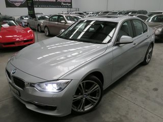2015 BMW 3 Series F30 LCI 320i Luxury Line Silver 8 Speed Sports Automatic Sedan.