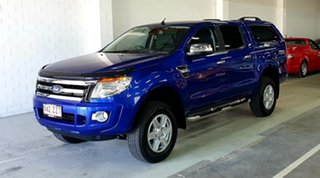2014 Ford Ranger PX XLT Double Cab Aurora Blue 6 Speed Sports Automatic Utility.