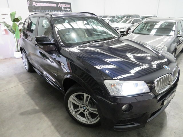 Used BMW X3 F25 MY0413 xDrive28i Steptronic, 2013 BMW X3 F25 MY0413 xDrive28i Steptronic Carbon Schwarz 8 Speed Automatic Wagon
