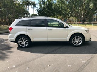 2014 Dodge Journey R/T White Automatic Wagon.