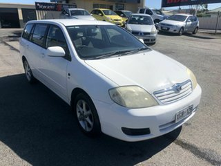 2005 Toyota Corolla ZZE122R 5Y Conquest White 5 Speed Manual Wagon.