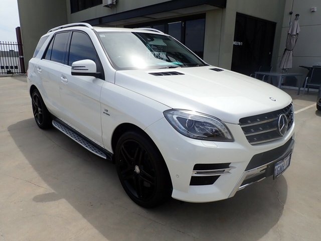 Used Mercedes-Benz M-Class W166 ML500 7G-Tronic + Wangara, 2012 Mercedes-Benz M-Class W166 ML500 7G-Tronic + White Crystal 7 Speed Sports Automatic Wagon