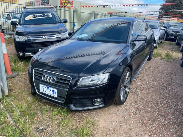 Used Audi A5 8T MY12 Sportback S Tronic Quattro, 2011 Audi A5 8T MY12 Sportback S Tronic Quattro Black 7 Speed Sports Automatic Dual Clutch Hatchback